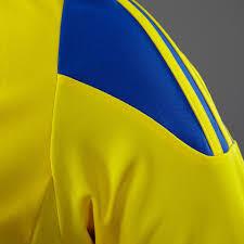 Blue Flag With Yellow Stripe Mens Football Teamwear Adidas Striped 15 Long Sleeve Jersey