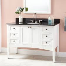 white undermount vanity signature hardware