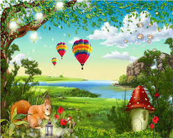 Mystical Forest Mural Nature Mural Compare Prices On Cartoon Forest Background Online Shopping Buy