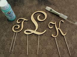 cake monograms wood monogram cake toppers wooden monogram cake topper