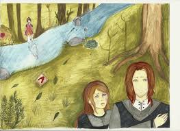 the scarlet letter forest scene by robots under attack on deviantart