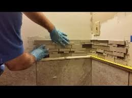how to install mosaic tile on an inside corner glass mosaic tile