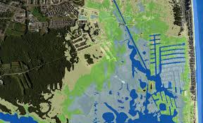 100 Year Floodplain Map South Bethany Flood Risk Visualization Map Water Depths