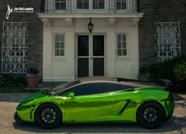 lamborghini green and black green chrome lamborghini gallardo with 19 inch forgestar cf10