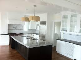 granite countertop gray and white kitchen cabinets bisque