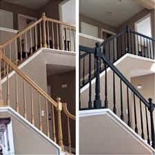 How To Refinish A Banister Best 25 Painted Banister Ideas On Pinterest Banisters Banister