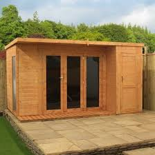 Gardens With Summer Houses - 12 x 8 cambridge summer house side shed