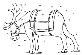 reindeer coloring pages rudolph santa sleigh coloring pages