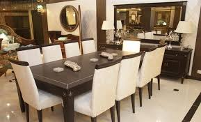 Charming Dining Table  Chairs Set Pc Cappuccino Wood Counter - Black dining table seats 10