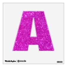 glitter letters wall decals u0026 wall stickers zazzle