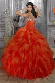 orange quinceanera dresses gown orange organza quinceanera dress with beading ruffles