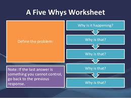 A Guide To The Five Whys Technique 5 Whys Form