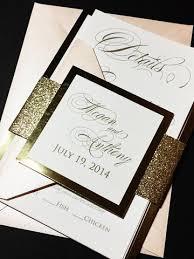 wedding invitations glitter blush and gold glitter wedding invitation modern wedding