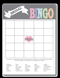 words for wedding shower card printable bridal shower bingo cards print from home