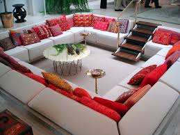 red and grey living room ideas gray carpet traditional brown