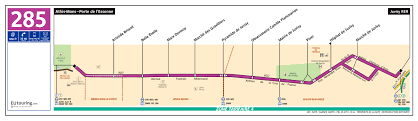 Route Map by Ratp Route Maps For Paris Bus Lines 280 Through To 289