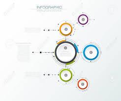 imagenes abstractas con circulos vector moléculas abstractas con etiqueta de papel en 3d círculos