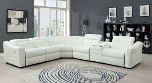 interior tan microfiber sectional and white sectional sofa