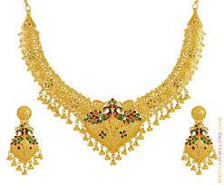 new necklace set gold images Gold wedding rings indian gold necklace set designs jpg