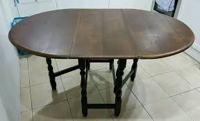 Oak Drop Leaf Dining Table Vintage Dark Oak Drop Leaf Dining Table In Llandysul Ceredigion