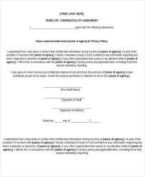 free printable non disclosure agreement free legal form non