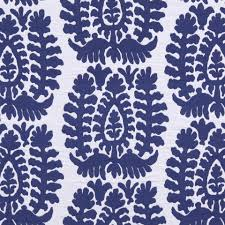 cobalt blue ikat upholstery fabric modern blue white home