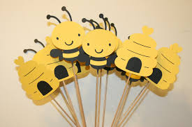 bumble bee decorations set of 12 bumble bee table decorations centerpieces great