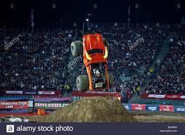 monsters truck show monster truck show during monster jam katowice poland stock