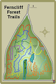 Green Circle Trail Map Ferncliff Forest Hike The Hudson Valley