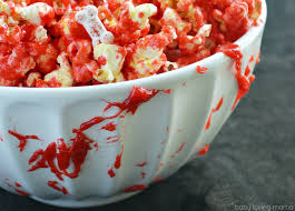 edible blood bloody popcorn with bones for finding zest