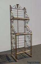 Container Store Bakers Rack Baker U0027s Wrought Iron Racks Ebay
