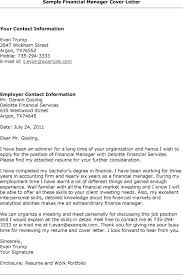 ideas of cover letter format for finance manager about sample