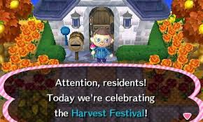 animal crossing new leaf day 166 harvest festival