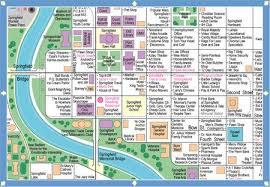 springfield map simpsons springfield fan map