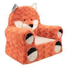 animal adventure sweet seats fox plush chair rust toys