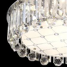 deckenle esszimmer moderne runde luxus k9 kristall le stufenlose dimmen mit