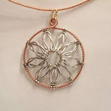 wire jewelry necklace images Loveknot pendant a free wire jewelry pattern by denny diamond for jpg