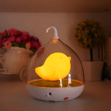 home led night lamp kids bedroom table lights birdcage touch