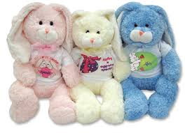 stuffed bunnies for easter happy kids personalized seasonal easter gifts