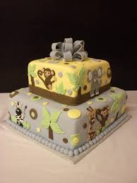 jungle themed baby shower cake that i made cake decorating