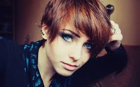 women lana branishti redhead blue eyes piercing short hair