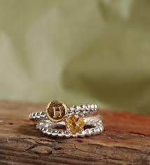 november birthstone jewelry citrine ring initial ring birthstone jewelry botanical ring