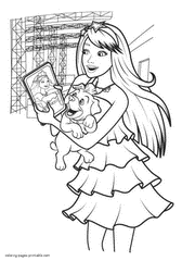 barbie coloring pages princess u0026 popstar