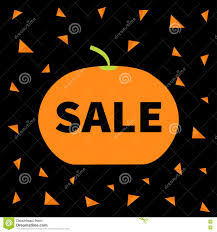 halloween design background cute pumpkin halloween big sale banner poster card flat design