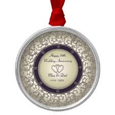 happy anniversary and ornaments keepsake ornaments zazzle