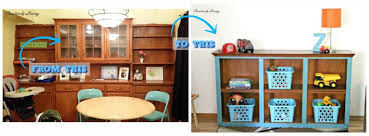 Toy Hutch Re Purposing A Dining Room Built In Hutch Into Playroom Toy