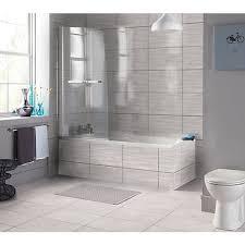wickes bathrooms uk wickes replica wave grey ceramic tile 498 x 298mm wickes co uk