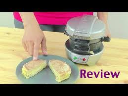 Round Sandwich Toaster Hamilton Beach Breakfast Sandwich Maker Review Youtube