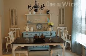 Dining Room Shabby Chic Table Sets Bronze Studded Accent Seat - Shabby chic dining room set