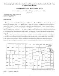 Map Of Counties In Kansas Lithostratigraphy Of Permian Red Beds And Evaporites In The